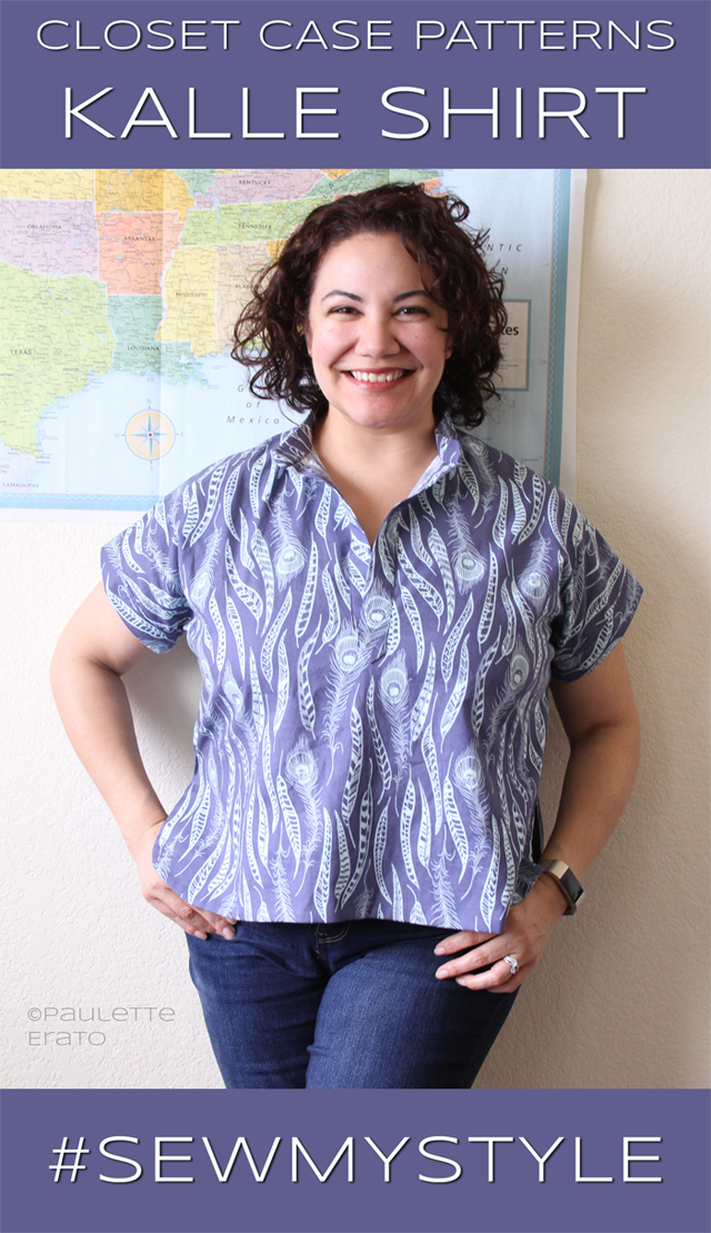 Paulette Erato in blue Kalle Shirt