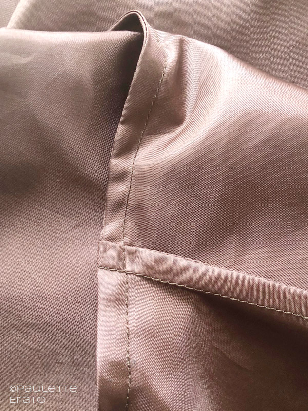 McCall's 7206 in brown silk interior French seams