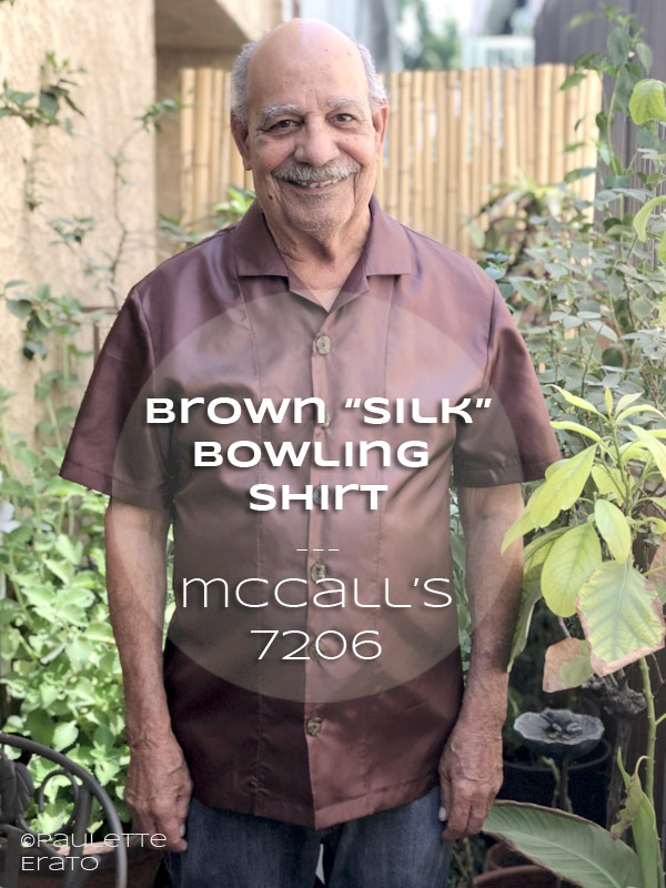 McCall's 7206 in brown silk hero