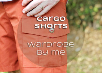 Wardrobe by Me Cargo Shorts in orange poplin