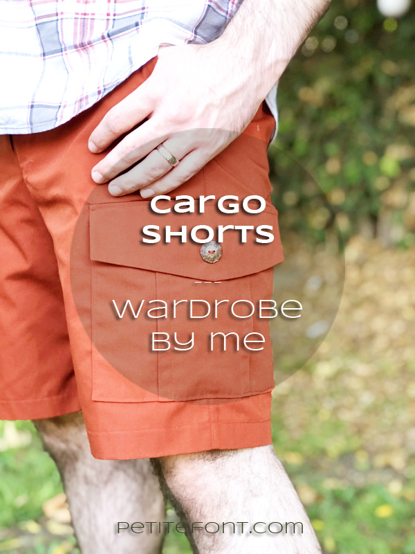 Wardrobe by Me Cargo Shorts in orange poplin