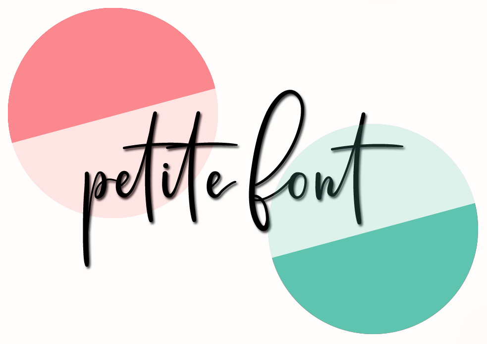 New Petite Font logo with 2 circles and new font
