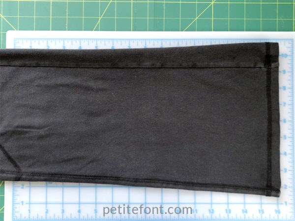 Shorten yoga pants - straighten the hem