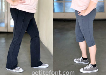 Shorten Yoga Pants in only 10 minutes