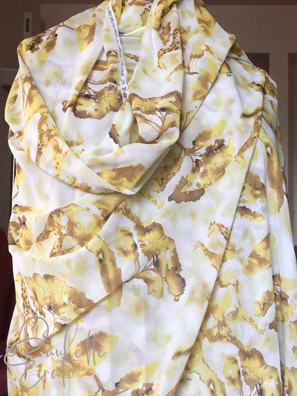 Maker inspiration citrine and topaz giraffe printed fabric