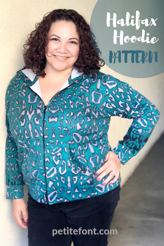 Sewing pattern review of Halifax Hoodie by Hey June Handmade - petitefont.com