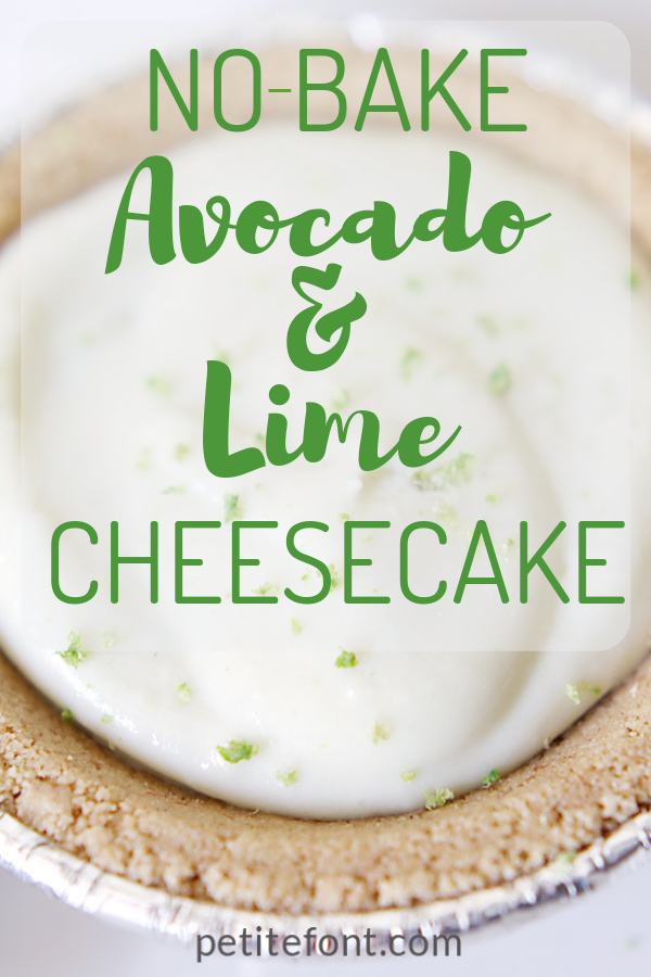 No-bake avocado lime cheesecake for those days (like Thanksgiving!) when you have enough on your plate. Don't bake, just enjoy. #thanksgivingrecipes #nobakedessert #nobakecheesecake #easyrecipe