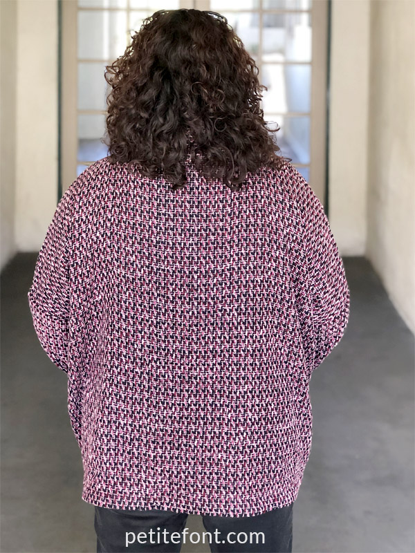 Wiksten Haori Jacket Pattern Review back view