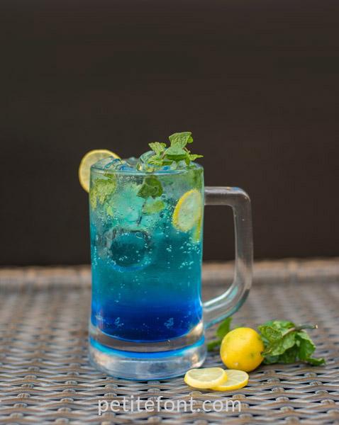 December Maker Inspiration: blue drink
