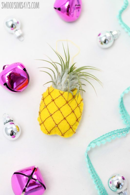 November Maker Roundup Pineapple air plant ornament tutorial swoodsonsays.com