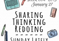 Sunday Lately 2019 Sharing Thinking Redoing