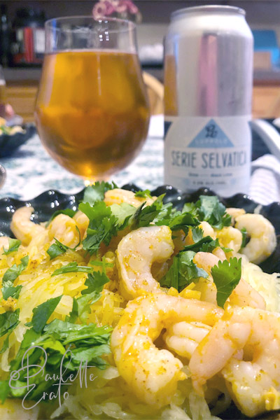 Pairing tequila lime shrimp with Luppolo Serie Selvatica gose