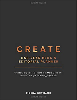 2019 Word of the Year CREATE blog planner