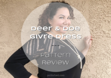A sewing pattern review of the Deer and Doe Givre dress