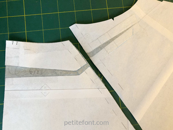 Elliot Sweater Pattern Review: high round back adjustment on a raglan bodice