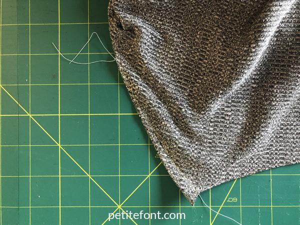 Como Cardigan Sew Along: sewn dart