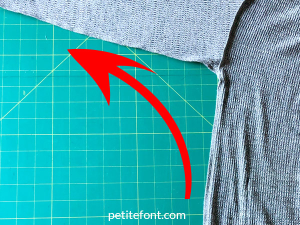 Como Cardigan Sew Along: sew the side seam up from the hem to the end of the sleeve