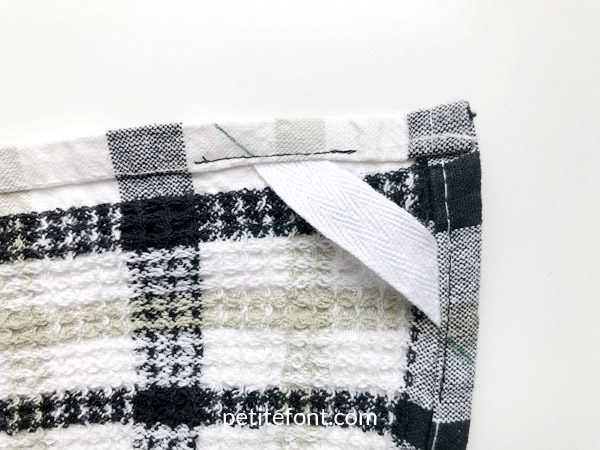 Easy to Sew Towel Hanging Loops Tutorial: press the new seams
