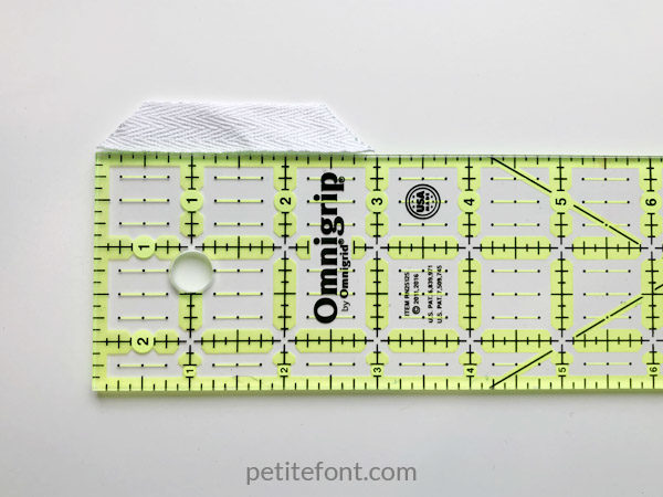 Easy to Sew Towel Hanging Loops Tutorial: measure your tape
