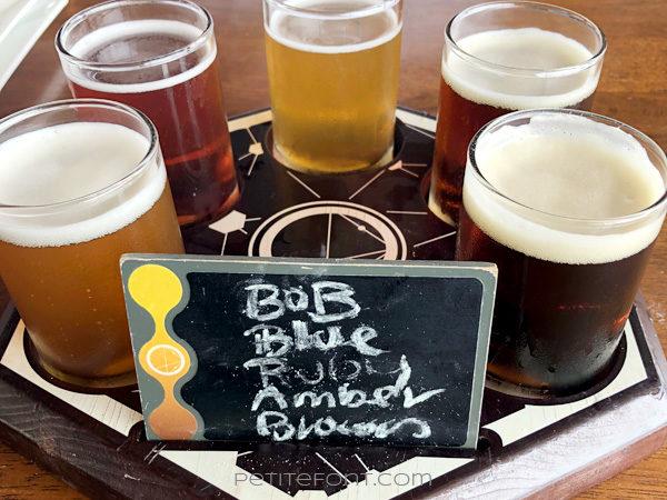 Flight of 5 beers from Ocean Lab