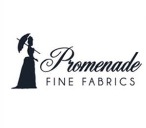 Logo for Promenade Fine Fabrics, January Sew My Style 2020 Sponsor