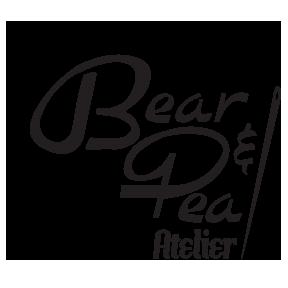 The Bear & Pea Atelier logo, June sponsor for Sew My Style 2020