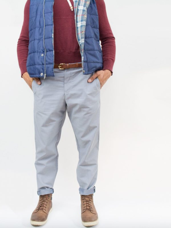Cropped view of a man in Laela Jeyne Reed Trousers