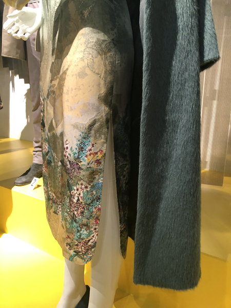 Close-up of cheongsam with a long slit up the leg from the 2019 movie Last Christmas