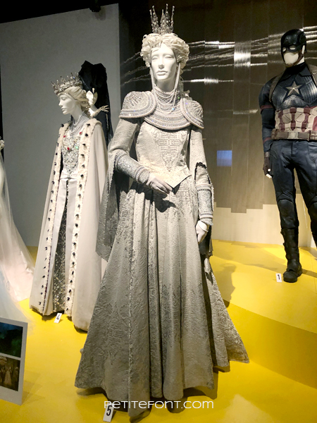 Mannequin wearing the silver queen movie costume from 2019's Maleficient: Mistress of Evil