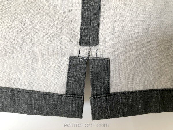 Close up look at the inside of the Ilford shirt side seam vents