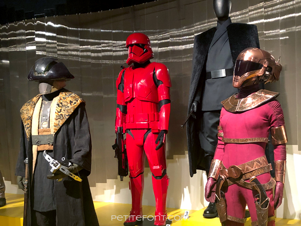 Star Wars display at the 2020 movie costumes exhibit at FIDM