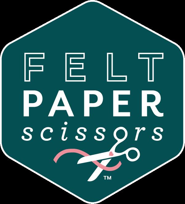 Felt paper scissors logo