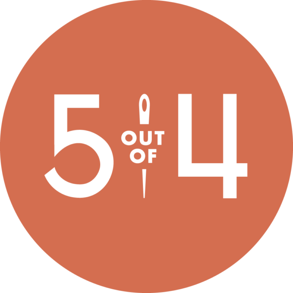 5 out of 4 patterns logo in orange
