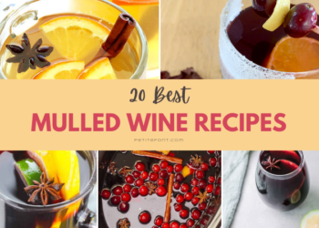 5 images of mulled wine options with text overlay that reads 20 Best Mulled Wine Recipes