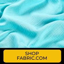 Swatch of aqua cotton double gauze from Fabric.com