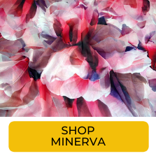 Swatch of pink abstract print chiffon from Minerva